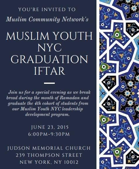 MY NYC Graduation Iftar