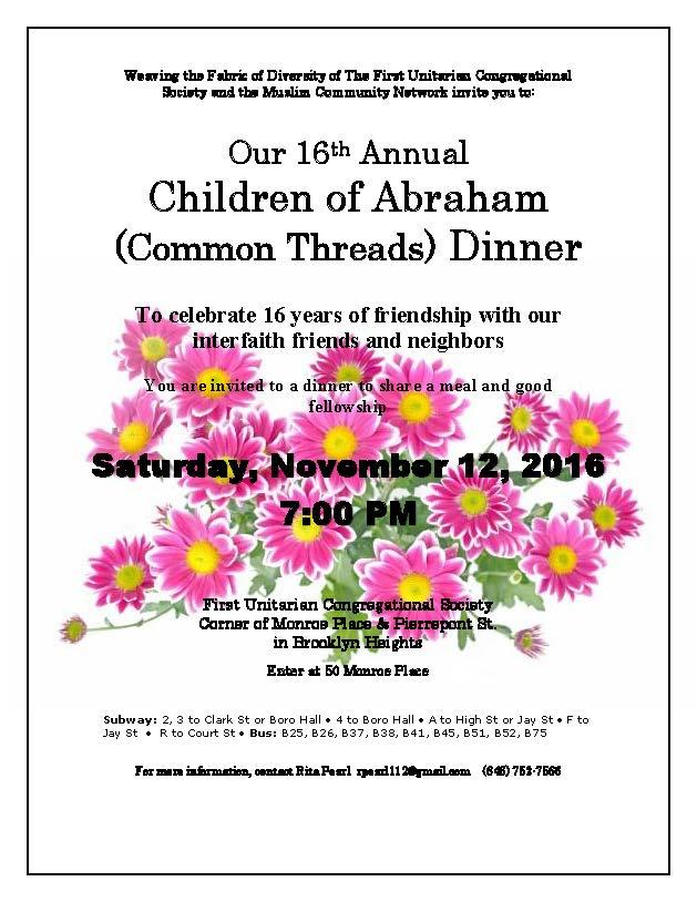 16th Annual Children of Abraham Dinner