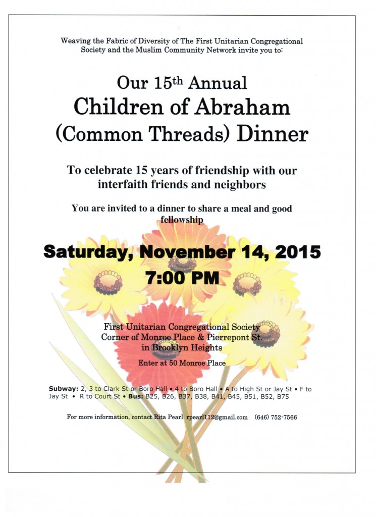 15th Annual Children of Abraham Dinner