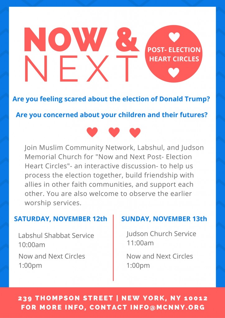 Now & Next Post Election Heart Circles
