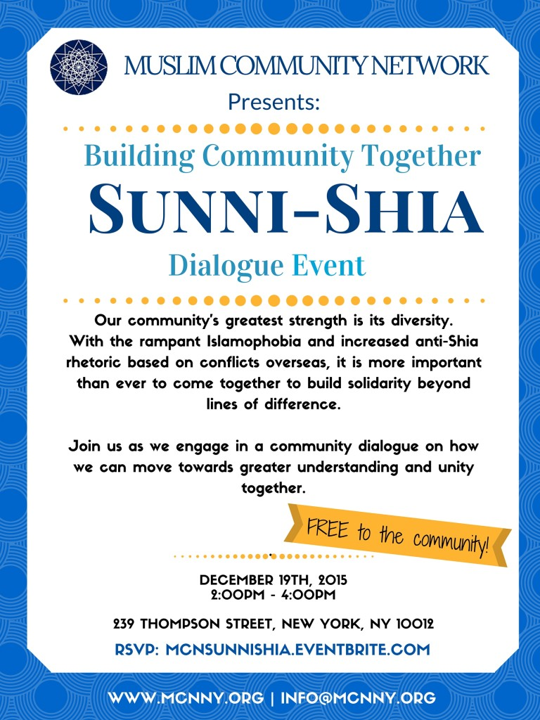 Building Community Together: Beyond Sunni – Shia