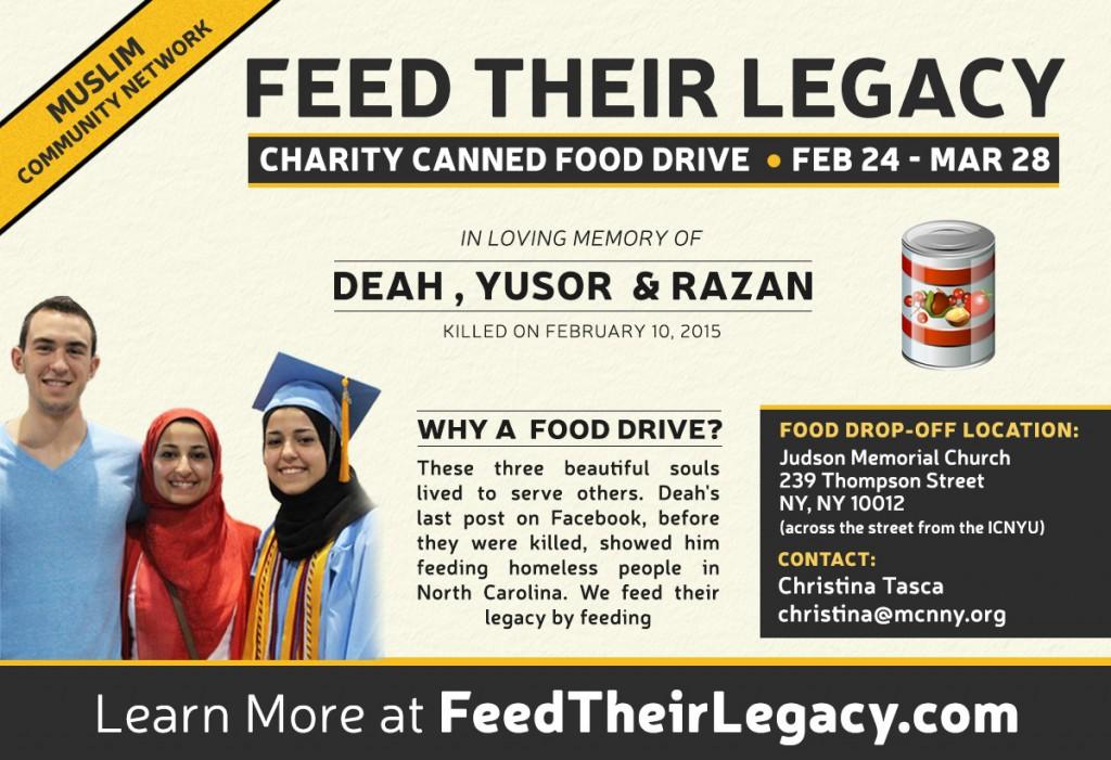 #FeedTheirLegacy Food Drive: 2/13 – 3/28