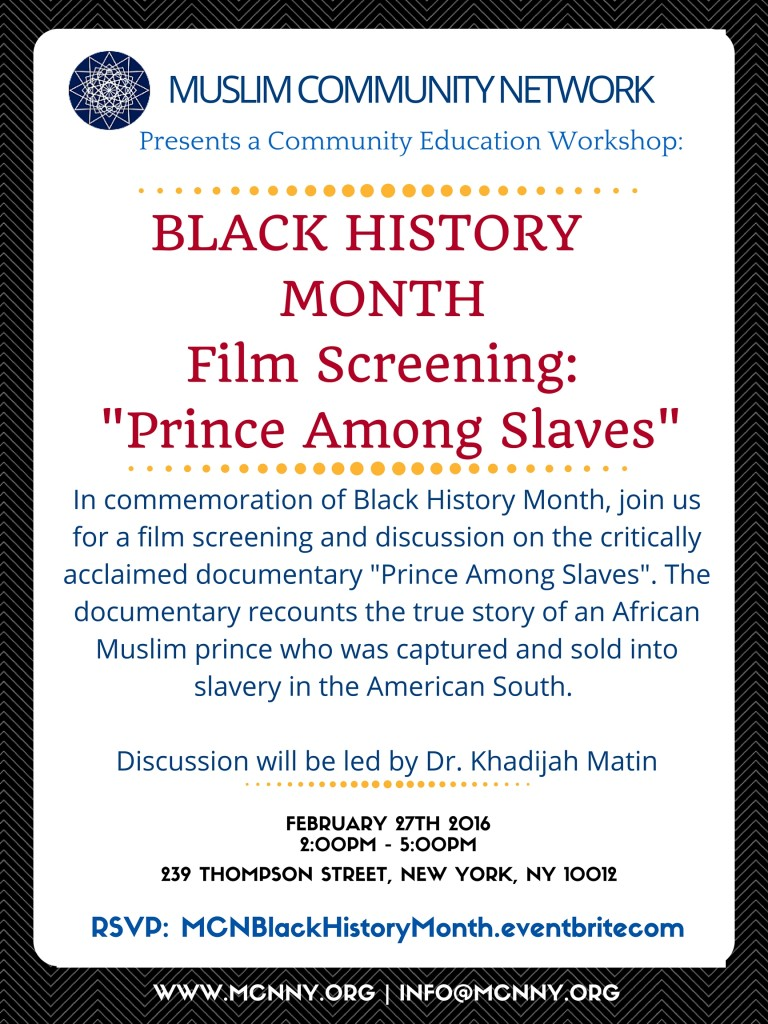 Black History Month Film Screening: Prince Among Slaves