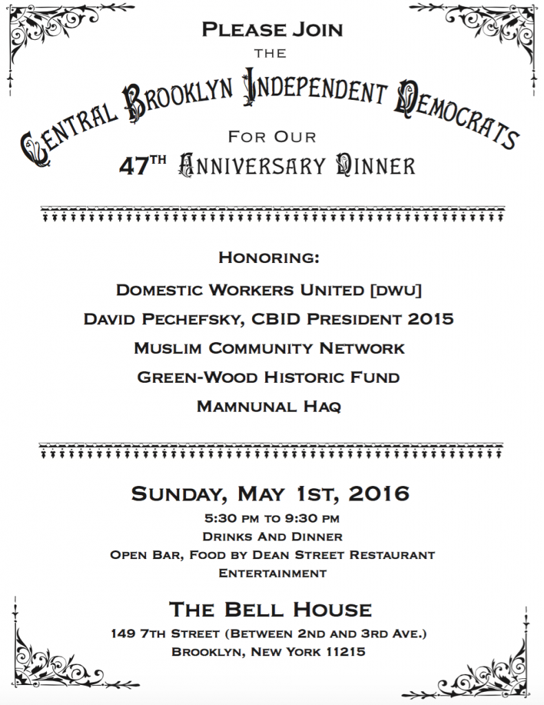 Muslim Community Network to be Honored by Central Brooklyn Independent Democrats!